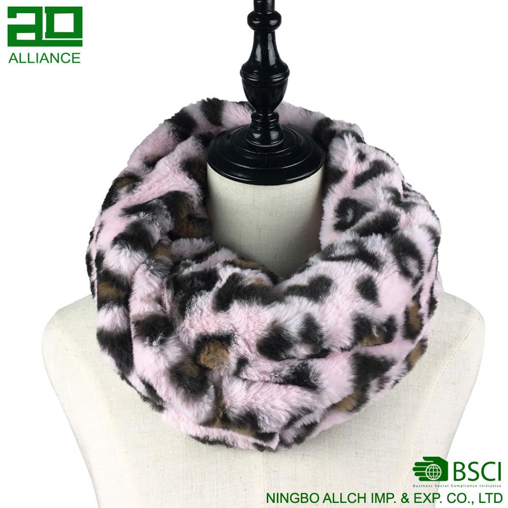Winter Fashion Faux Fur Snood Scarf