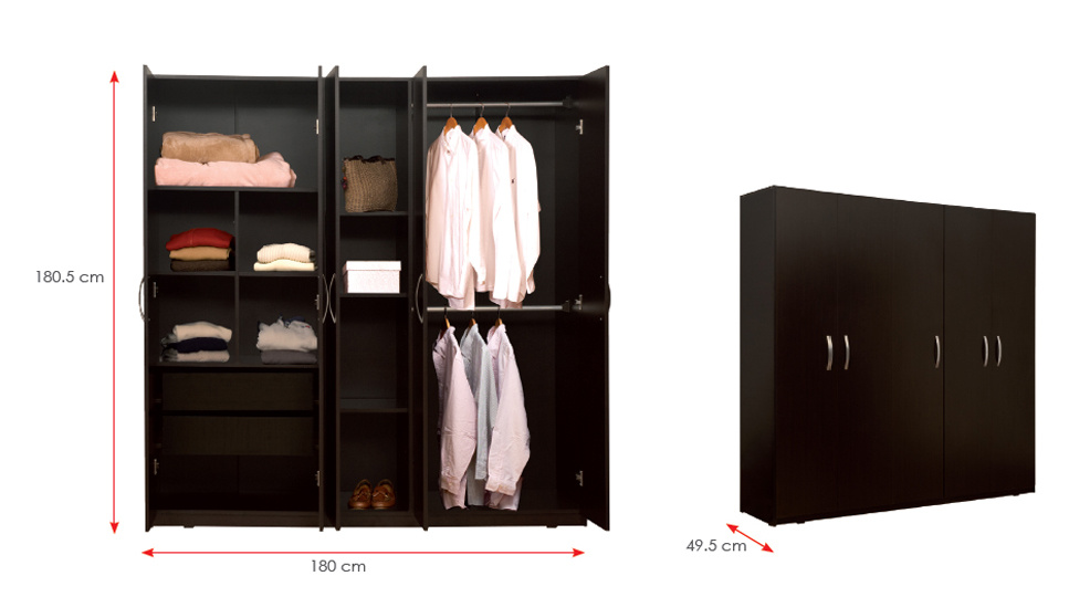 Bedroom Furniture Wooden Clothes Storage Cabinet /Wardrobe (HX-DR022)