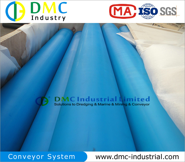 108mm Diameter Conveyor System HDPE Conveyor Idlers Blue Conveyor Rollers