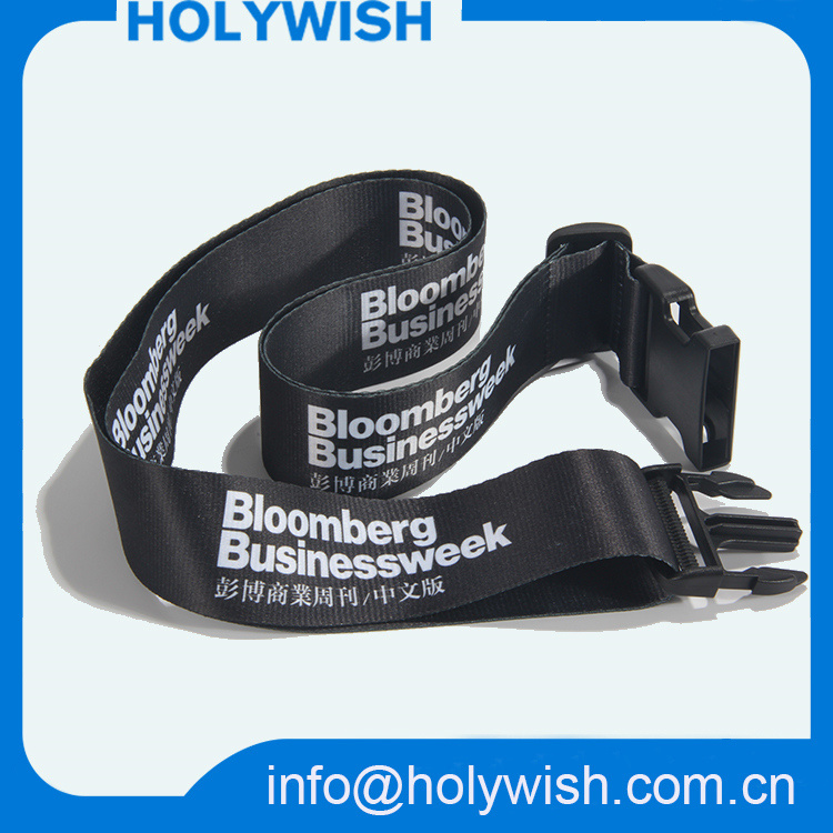 Wholesale Black Polyester Silkscreen Printing Safety Luggage Belt