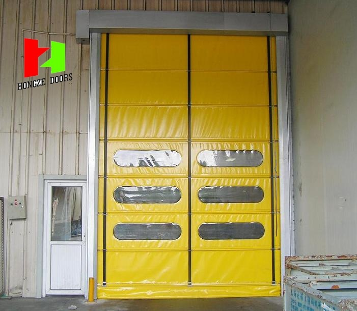 Flexible Stacking Door High Speed Steel Door Rapid Rolling Door (Hz-020)