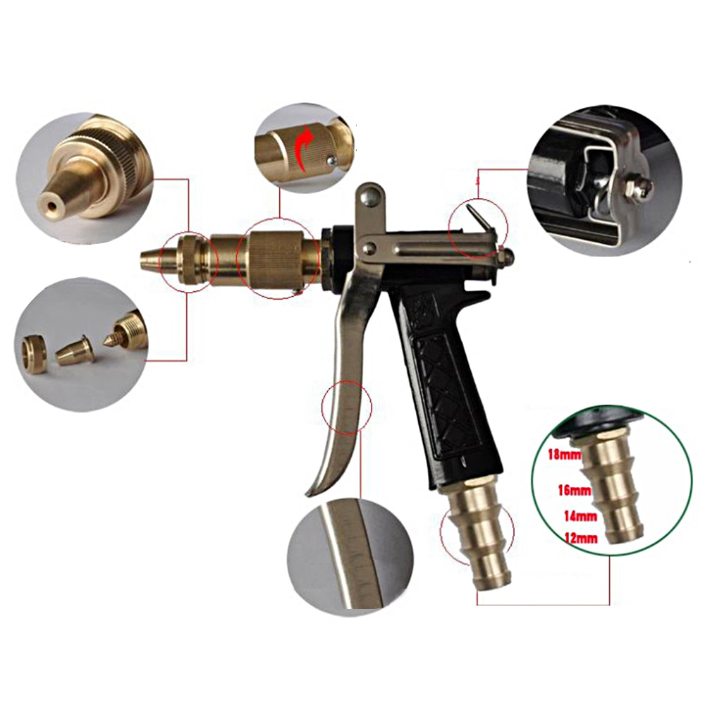 High Pressure Water Spray Gun Brass Metal Car Wash Machine Car Cleaning Equitment