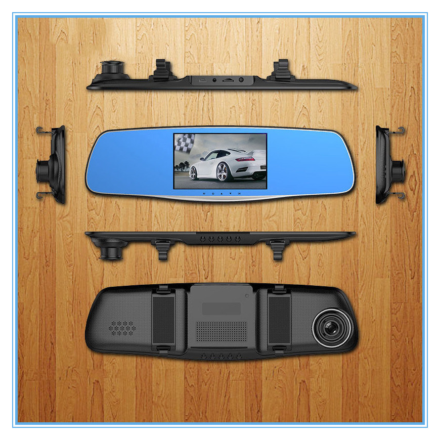 5.0 Inch FHD 1080P Rearview Mirror Car Dvrs with Dual Lens