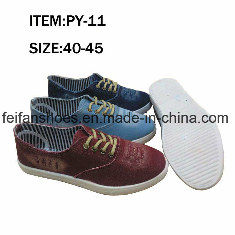 OEM Footwear Men Leisure Shoes Injection Canvas Shoes Factory (FFPY0415-03)