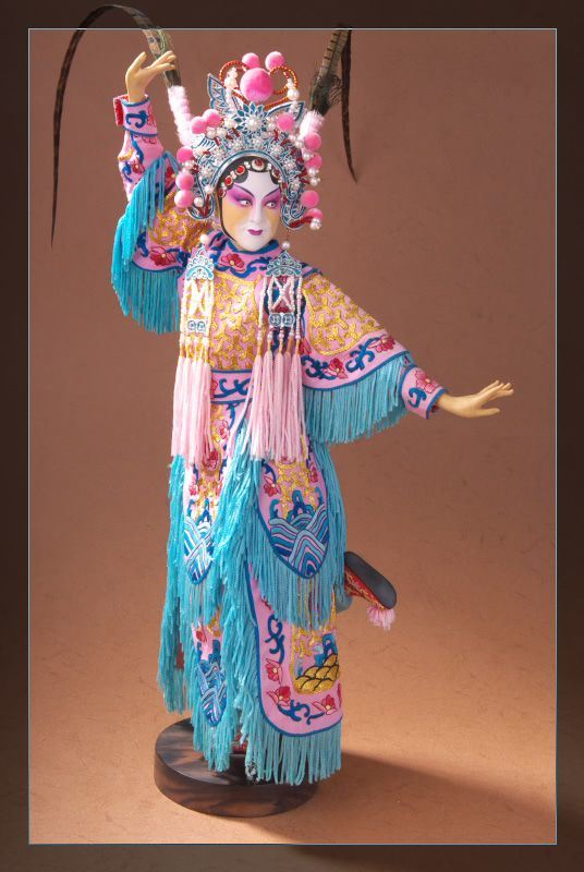Ancient Chinese Opera Doll of Hu San Niang 100% Handmade - China ...