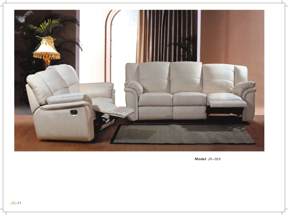 China living room furniture leather sofa l jx02 china Reclining living room furniture
