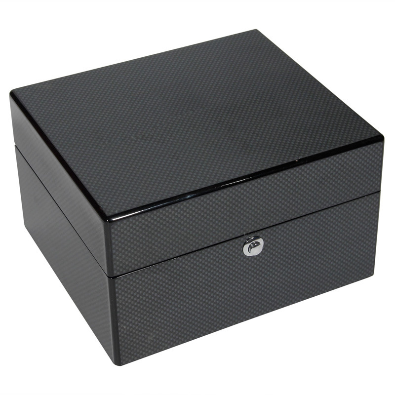 Black High Glossy Wooden Watch Box