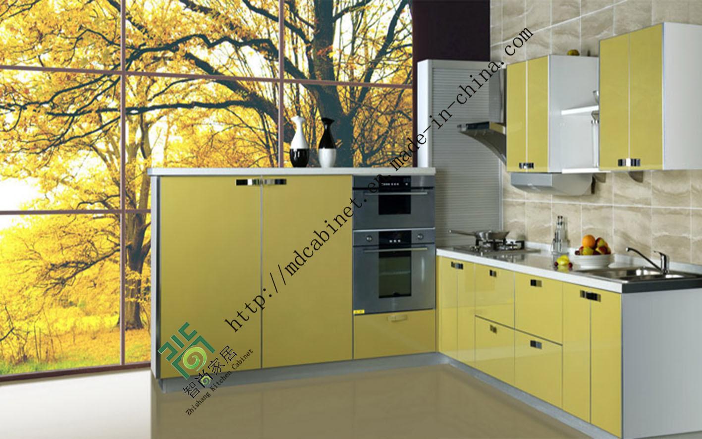 China high gloss uv mdf ready made kitchen cabinets zs for Ready made kitchen cabinet