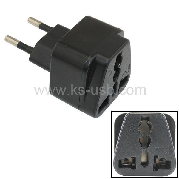 china eu travel adapter ac power plug convert au us uk to. Black Bedroom Furniture Sets. Home Design Ideas