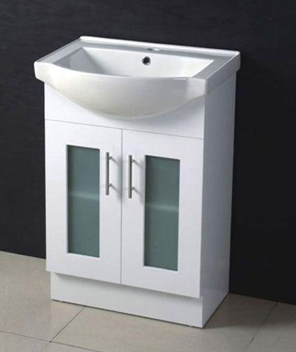 china 600mm mdf glass door bathroom vanity mg600 china
