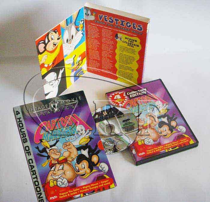 Cartoon DVD Replication for Amaray Case Packaging Service