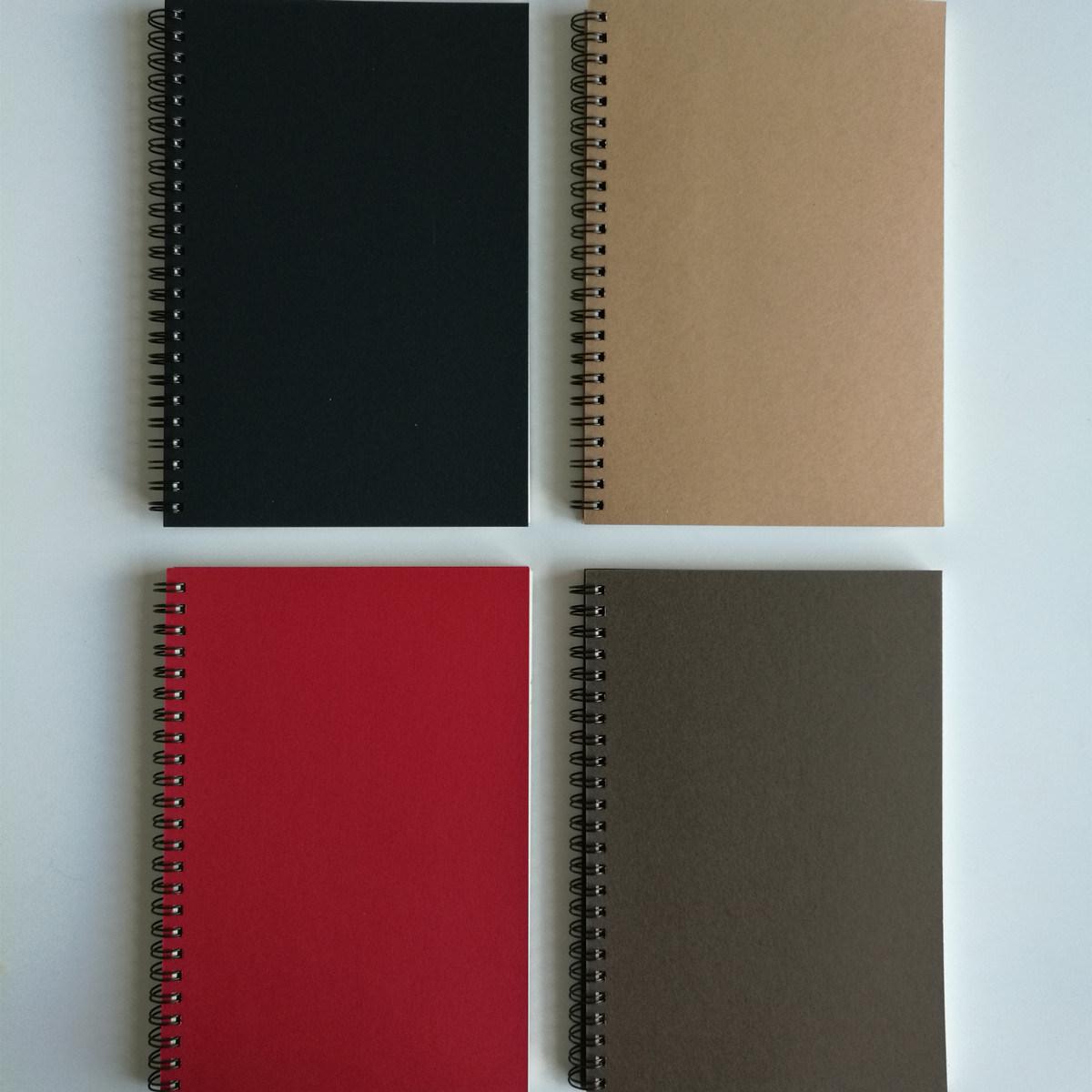 A5 Kraft Paper Spiral Notebook