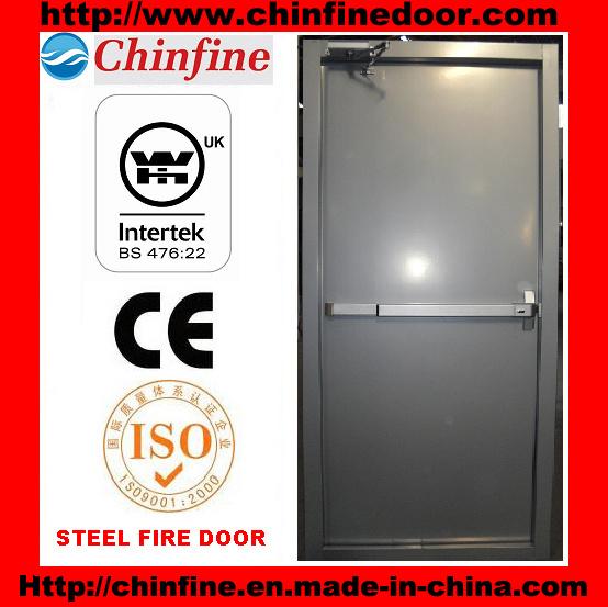 Steel Fire Door with Panic Bar Exit Device (CF-F007)