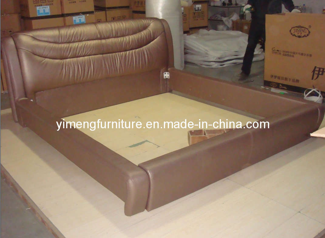 China soft leather sofa bed y 005 china fabric bed for Soft leather sofa bed