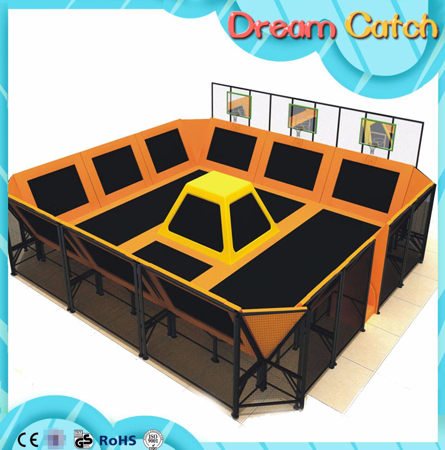 Children Indoor Playing Trampoline Used for Play Center