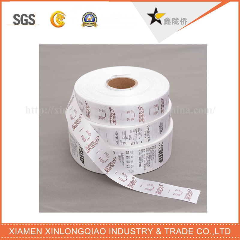 Washable Printed Garment Printing Woven Sticker Cloth Careful Wash Label