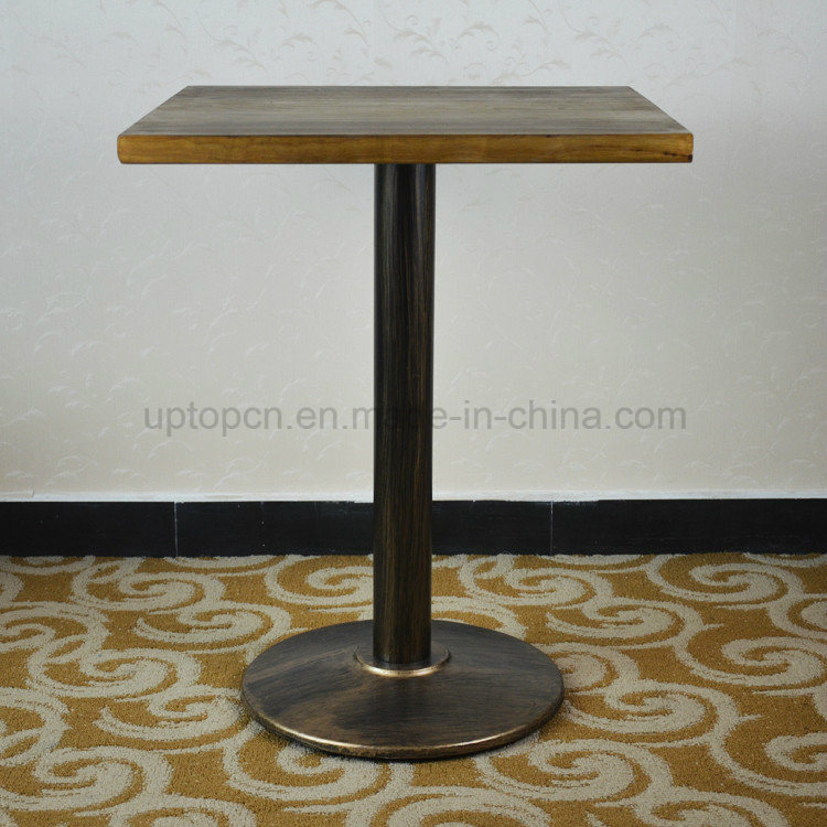 Square Vintage Distressed Solid Wood Restaurant Table (SP-RT467)