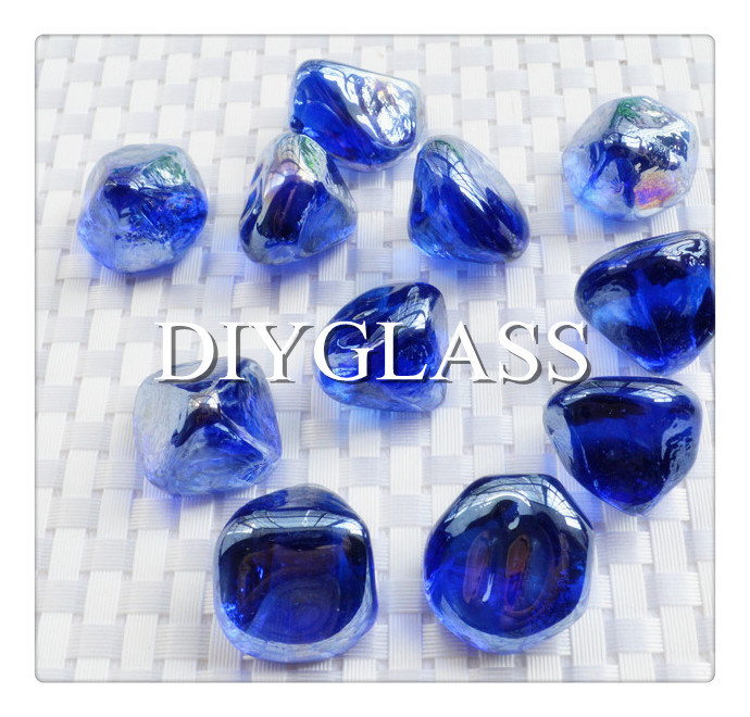 Blue Glass Stone for Decoration