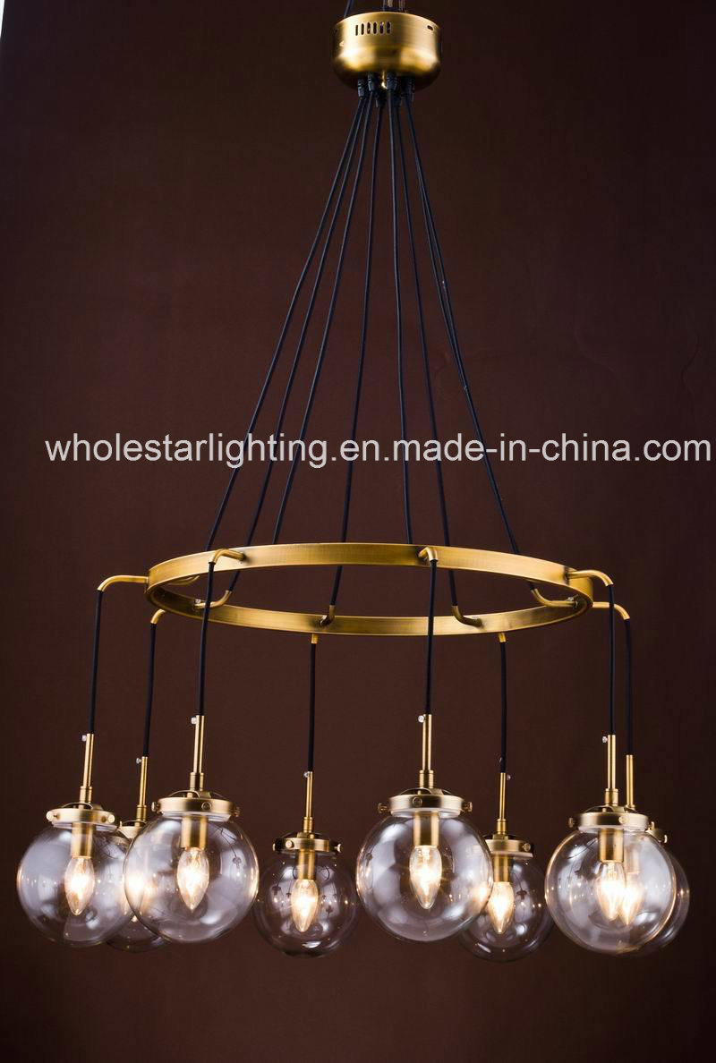 Metal Chandelier with Glass Shade (WHG-650)
