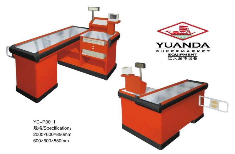 Supermarket Checkout Counter Bill Counter Cashier Machine with Conveyor Belt