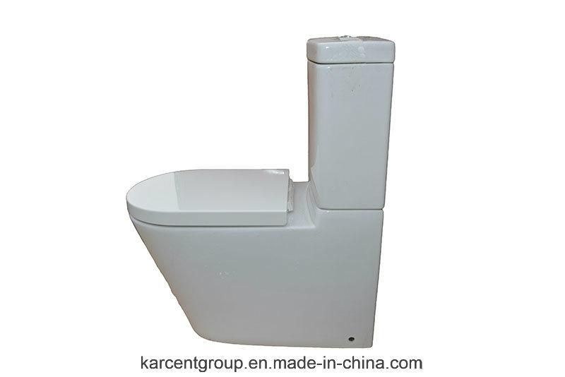 Two Piece Ceramic Toilet Washdown Toilet Water Closet Wc 11511 Rimless