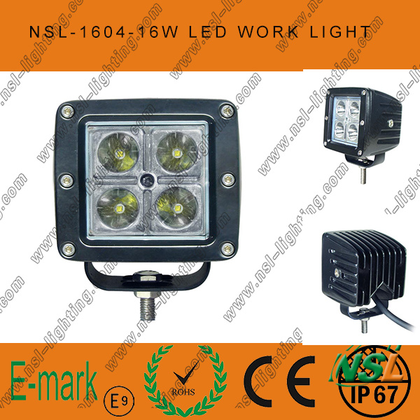 3inch Square 16W CREE LED Work Light Auto Driving off Road Fog Head Light 12/24V DC