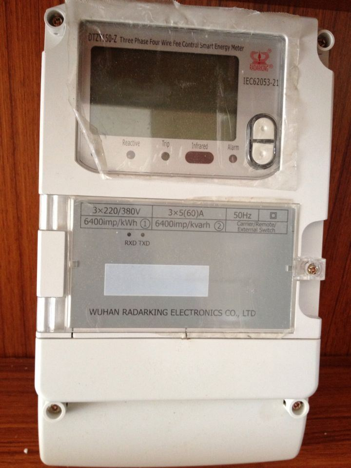Multi Tariff Three Phase Smart Electronic Power Meter for AMR System
