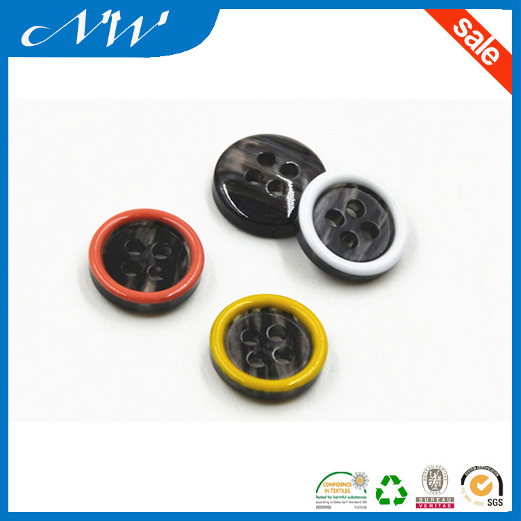 Imitation Shell Effect Polyester Shirt Button
