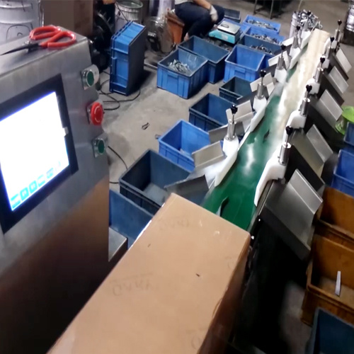 Automatic Sorting Machine for Fish and Chicken by Weight