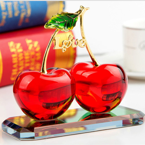 Colourful Crystal Glass Fruit Gift for Craft Decoration