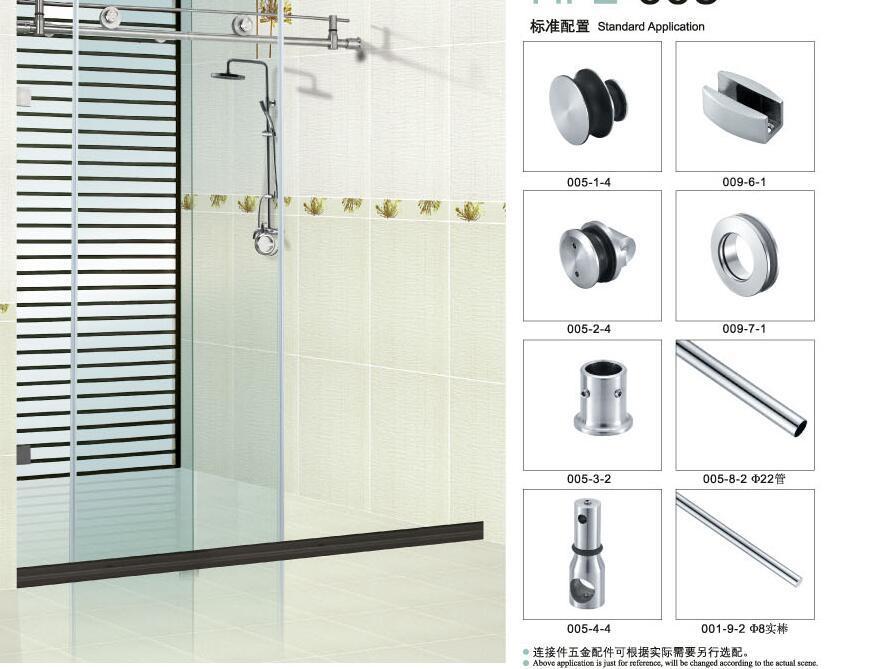 Sliding Door Components Accessories : China glass door fitting sliding hardware bathroom