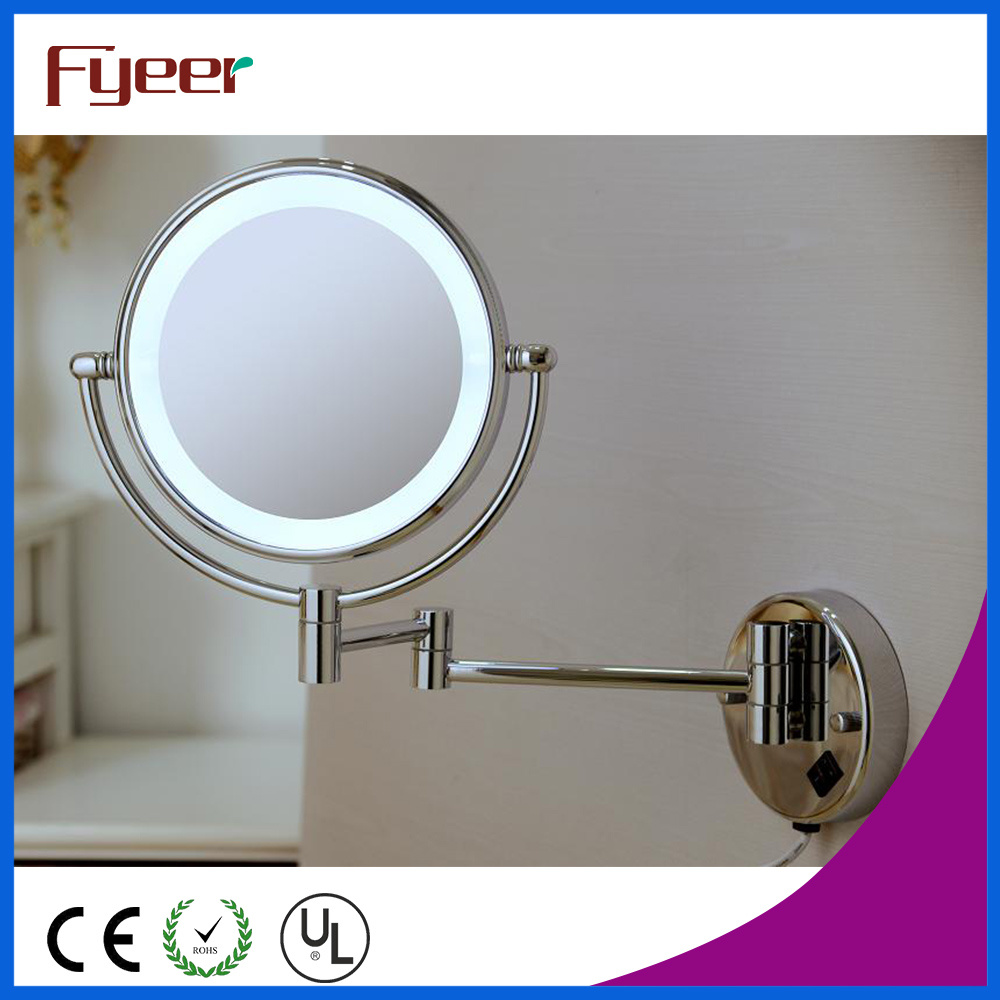 Fyeer Ultra Thin Wall Mounted Foldable LED Bathroom Makeup Mirror