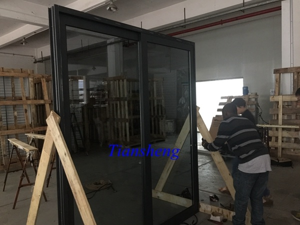 Customized Three Tracks Aluminum Sliding Door with Crim Safe Screen