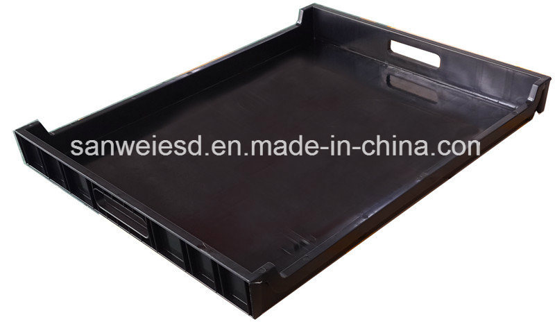 Plastic Black ESD Antisatic Conductive PCB Tray (3W-9805315)