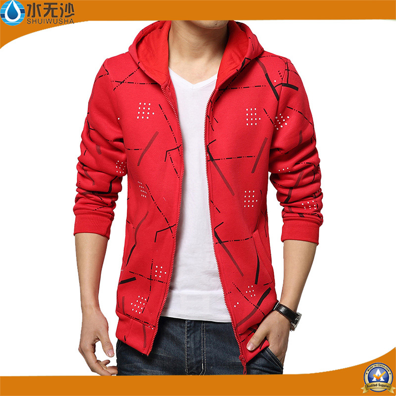 Fashion Brand Hoodies Men Casual Sports Wear Printing Zipper Hoody