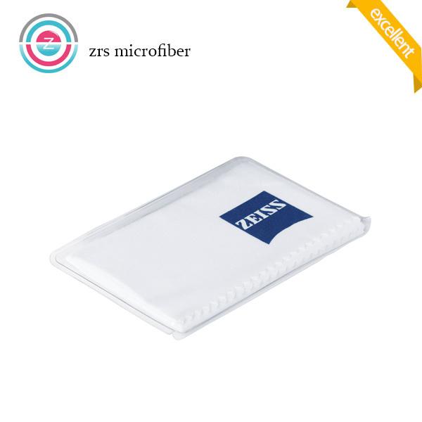 White Silk Screen Print Microfiber Cloth