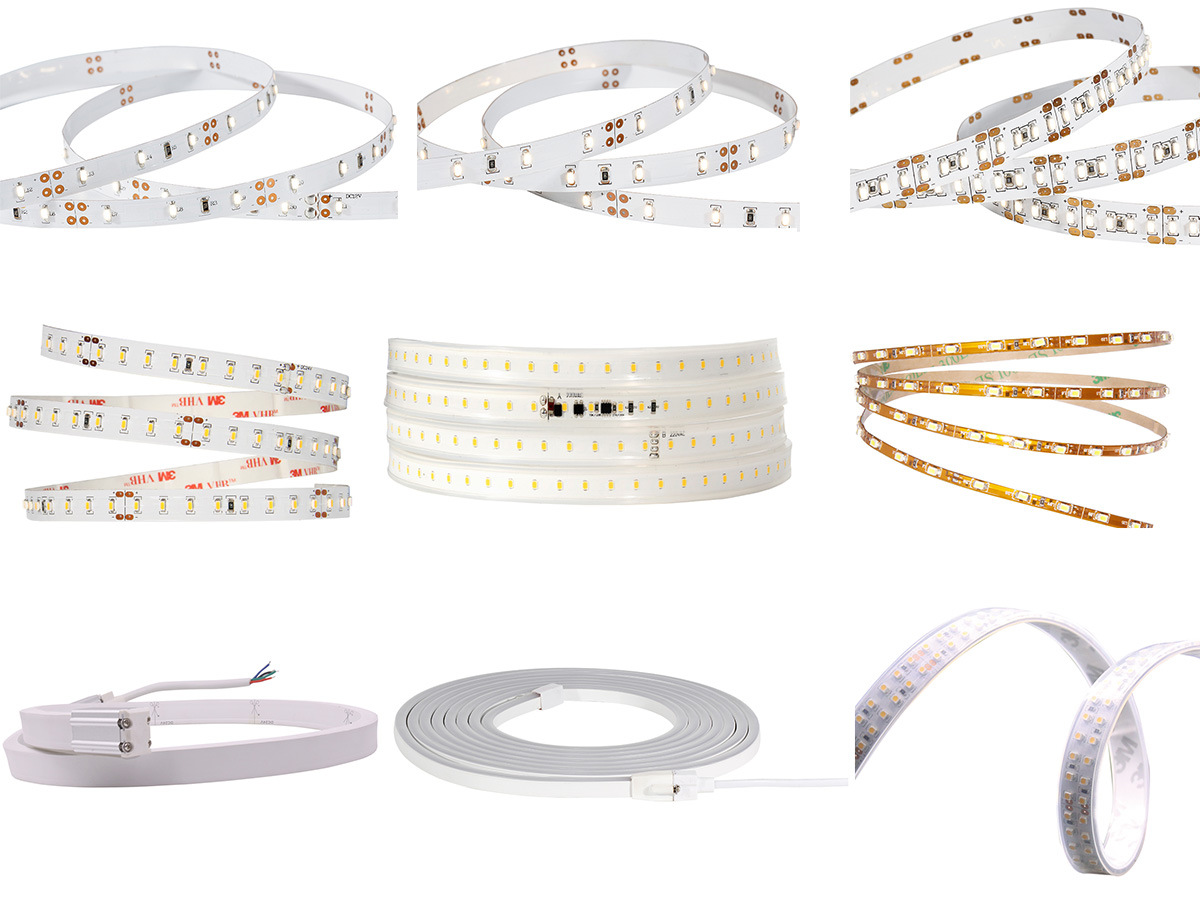IP20 IP64 IP65 IP67 CRI80/90 Energy-Saving 140lm/W LED Strip Lighting 50 Meters