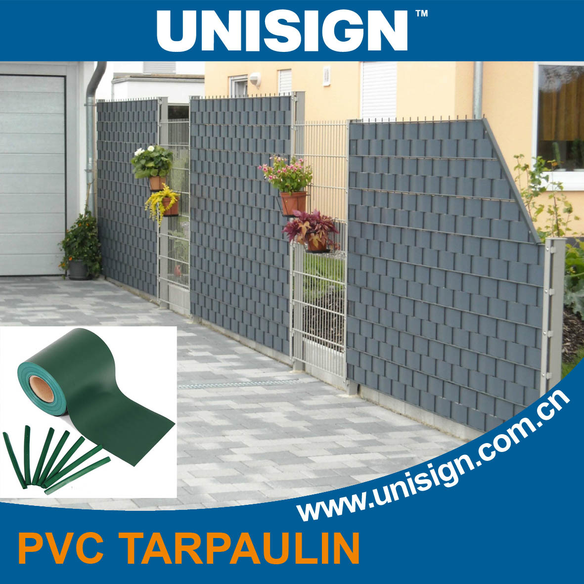 pvc privacy screen for garden fence