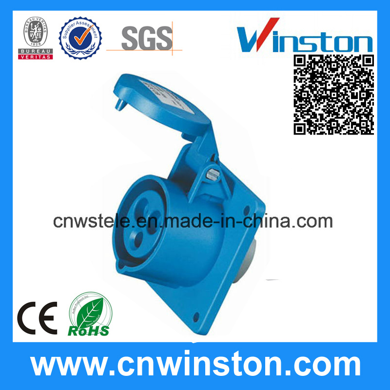 Wst-1366 High-End Type 3pin Panel Mounted Industrial Plug with CE