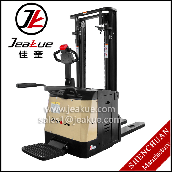 High Quality 1.4t- 1.6t AC Power Standing Driving Electric Stacker