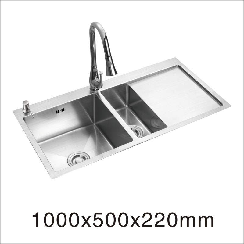 Handmade Stainless Steel Sink with Board (7842S)