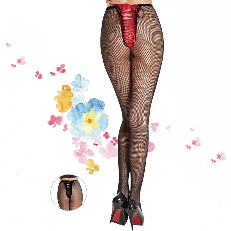 Sexy Hosiery with Lace-up in Back 9823