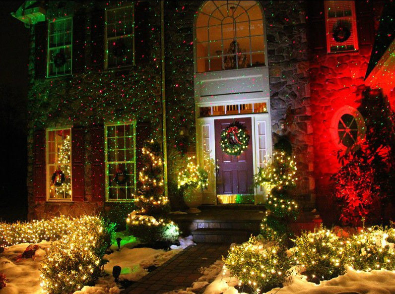 Rg Color Waterproof Christmas Laser Light Show Outdoors