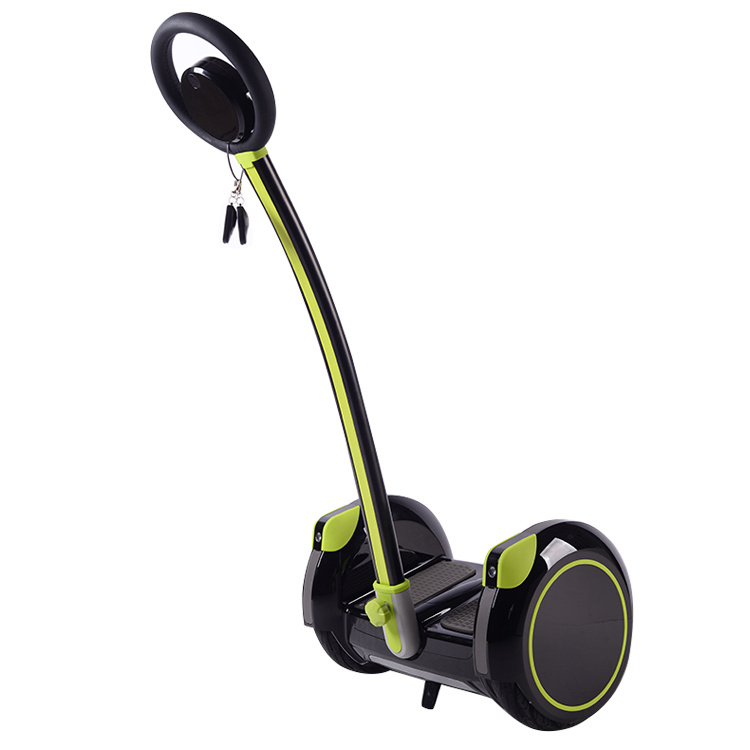 Smartek 14 Inch Two Wheel Electric Standing up Scooter Patineta Segboard Seg Way Gyropode Hoverboard Gyro Gyroscope with Handle Bar Scooter Giroscooter S-015