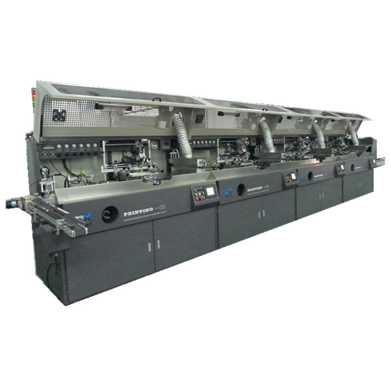 Automatic Four Color Plastic Bottle Screen Printing Machine