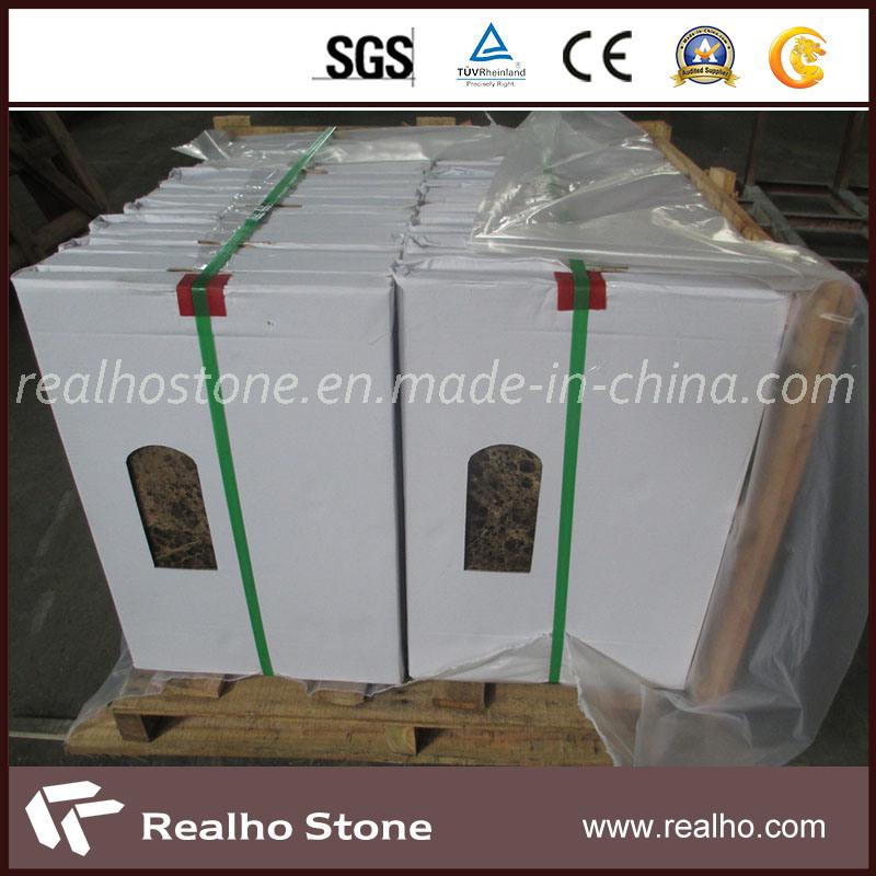 Brown Dark Emperador Marble Composite Stone Panel for Wall Cladding