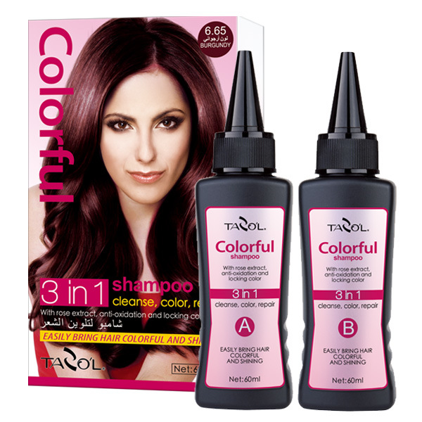 60ml*2 Light Brown Hair Color Shampoo in 5 Minutes