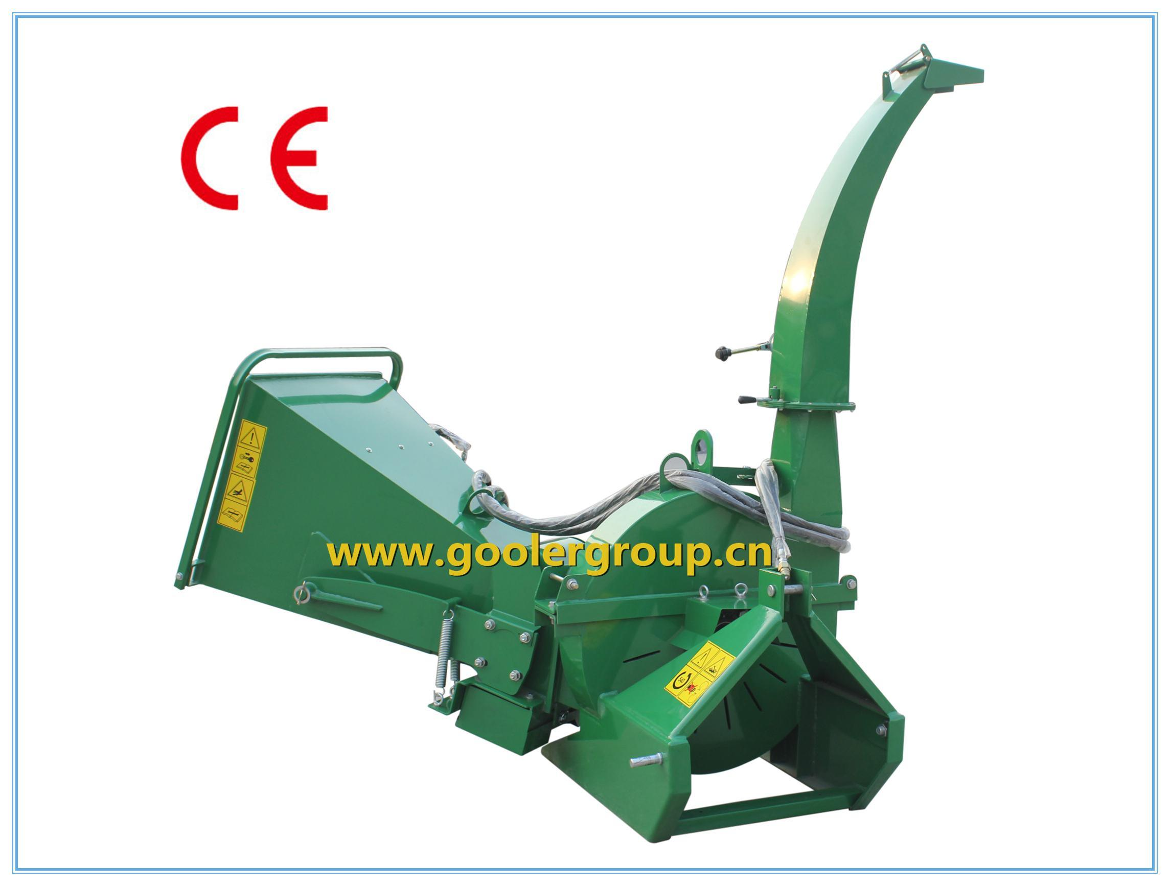 Bx62r Wood Chipper, Tractor Pto Shaft Driven, CE Approval, Double Hydraulic Feeding Rollers