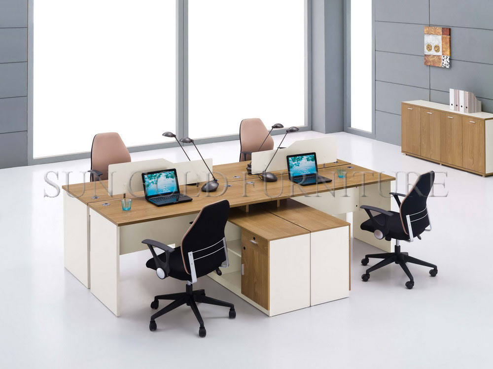china modern design wooden table computer workstation