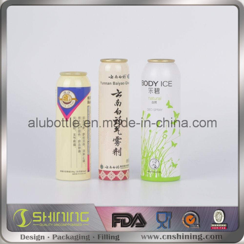 Aluminium Aerosol Can for Food Aluminum Spray Bottle